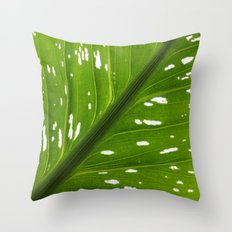 Spotted with White: Leaf Throw Pillow