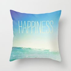 beachy happiness Throw Pillow