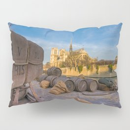 Docks of Notre dame de Paris Pillow Sham