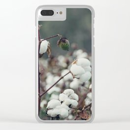 Cotton Field 5 Clear iPhone Case