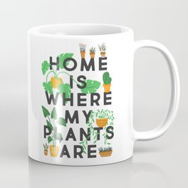 Home Is Where My Plants Are Coffee Mug