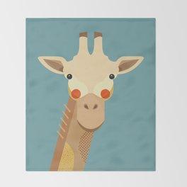 Giraffe, Animal Portrait Throw Blanket