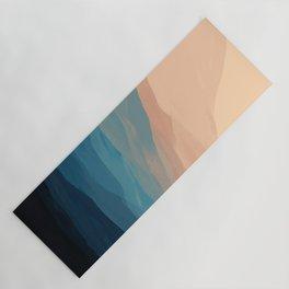 Blue Waves In Desert Peaks Yoga Mat