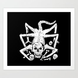 Mexican Day of the Dead Skull Man eater deadly scorpion Art Print