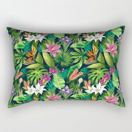 Tropical Lush Sanctuary, A Bohemian Paradise Rectangular Pillow