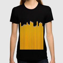 Pencil row / 3D render of very long pencils T-shirt
