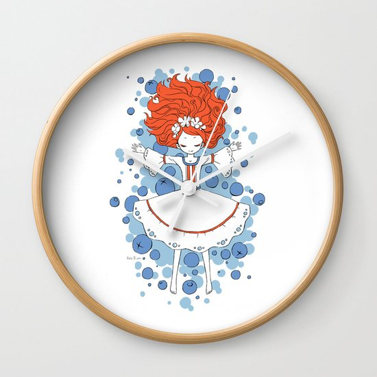 Blueberry Dream Wall Clock