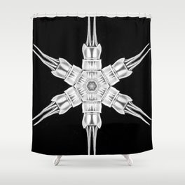 Ninja Star 1 Shower Curtain