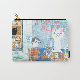 A is for an alpaca Carry-All Pouch