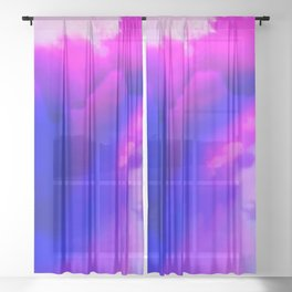 Abstract Bliss 1 by kathy Morton Stanion Sheer Curtain