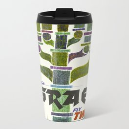 Vintage Israel Travel Poster Metal Travel Mug