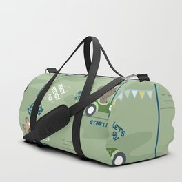 Ready to race mouse pattern Duffle Bag