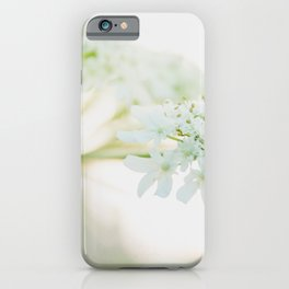 Light sunny photo of a Hogweed.  iPhone Case