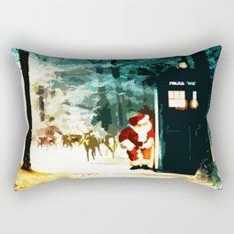 Keep Watching The Tardis Light Rectangular Pillow