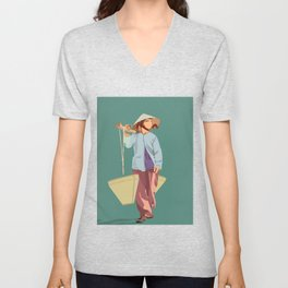 Water Bearer Old Lady Unisex V-Neck