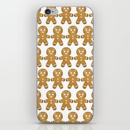 Gingerbread Cookies Pattern iPhone Skin