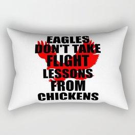 eagles flight funny quote Rectangular Pillow