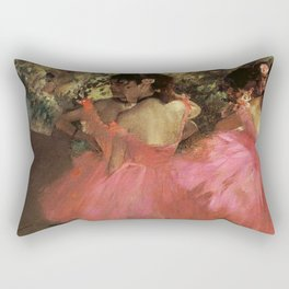 Dancers In Pink 1885 By Edgar Degas | Reproduction | Famous French Painter Rectangular Pillow
