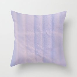 Crumpled Lines on Lilac Paper Texture Throw Pillow