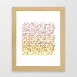 Optimistic Influence Framed Art Print