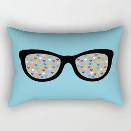 Heart Eyes Rectangular Pillow