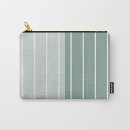 Two Tone Stripes - Sage Carry-All Pouch