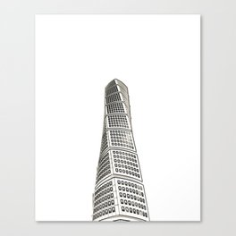 Architecture: Turning Torso Canvas Print
