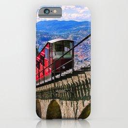 Lugano, Switzerland Funicular - Cable Car Lakeside photograph iPhone Case