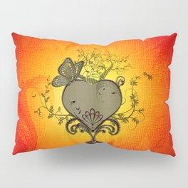 Wonderful heart with butterflies Pillow Sham