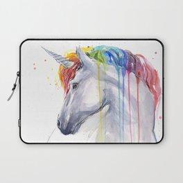 Rainbow Unicorn Watercolor Laptop Sleeve