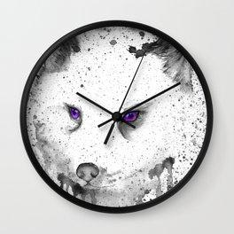black and white : Fox Wall Clock