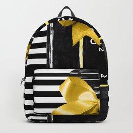 Black perfume watercolor painting Backpack