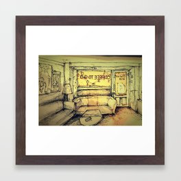 Tjilly bar Framed Art Print