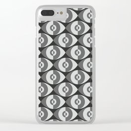 Plaster Eyes Clear iPhone Case