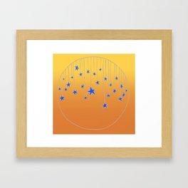 Hanging Stars Framed Art Print