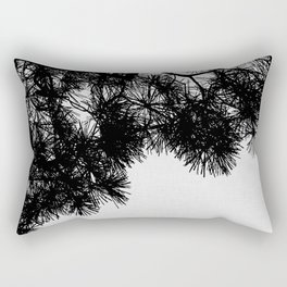 Pine Tree Black & White Rectangular Pillow