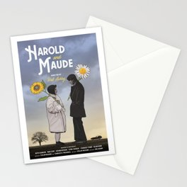 Harold and Maude alternative movie poster Stationery Cards