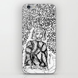 Woman Lost in the Dark iPhone Skin