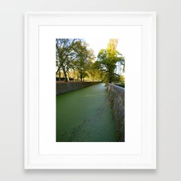 The Green River at Chenonceau Framed Art Print