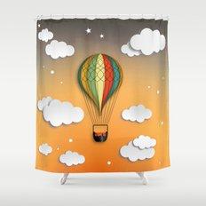 Balloon Aeronautics Dawn Shower Curtain