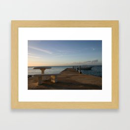 Solitude with a Boat and Table Framed Art Print