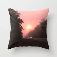 matty healy Throw Pillows featuring A perfect spot for a break in the journey by Donuts