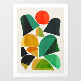 Mountains as the giants Art Print