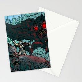 MOTHMAN DIVE BOMBING SASQUATCH Stationery Cards