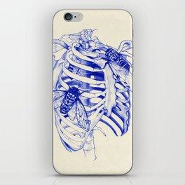 collarbone blue iPhone Skin