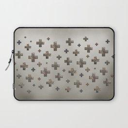 Crosses - Cream Gold Laptop Sleeve