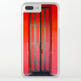 Sacramento Red Door Clear iPhone Case