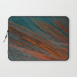 Red and blue turquoise mountain slope Laptop Sleeve