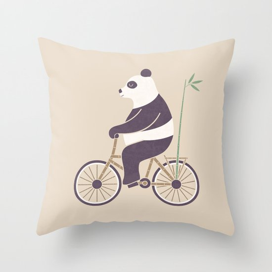 My Bamboo Bicycle Throw Pillow