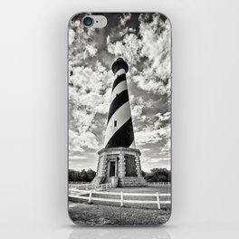 Sepia - Cape Hatteras Lighthouse, Outer Banks, NC iPhone Skin